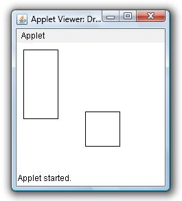 Draw Rectangle Square In Applet Window Example