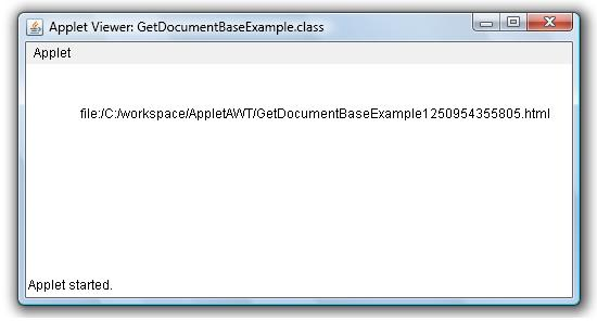 Get Applet's Document URL or Directory Base Example